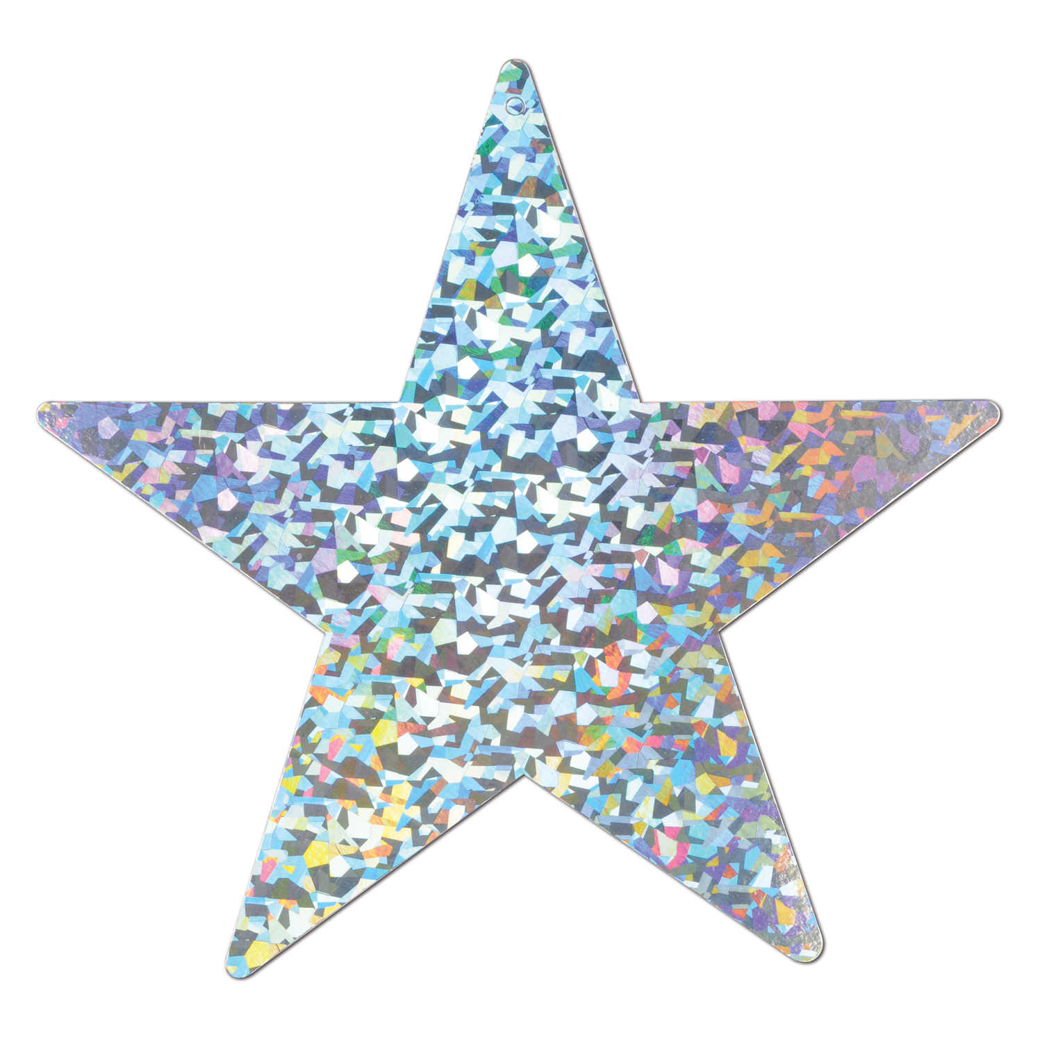 Prismatic Foil Star Cutout 9in silver