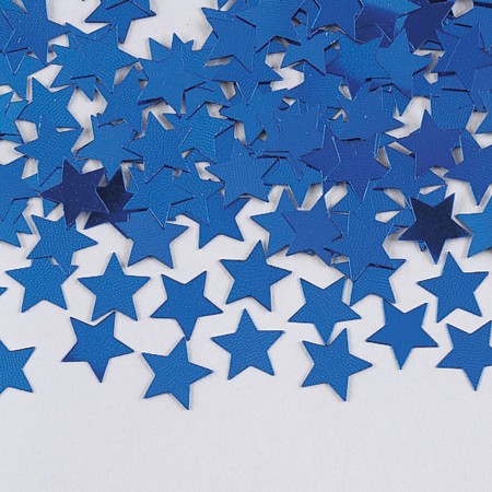 Blue Stars Shaped Confetti