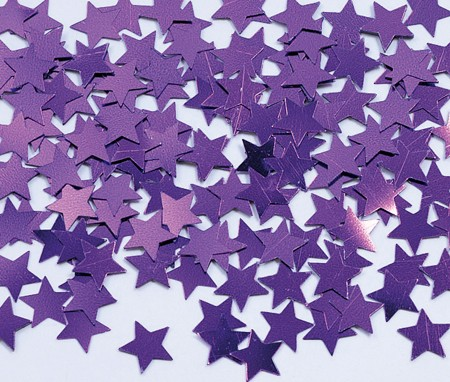 Purple Star Shaped Confetti