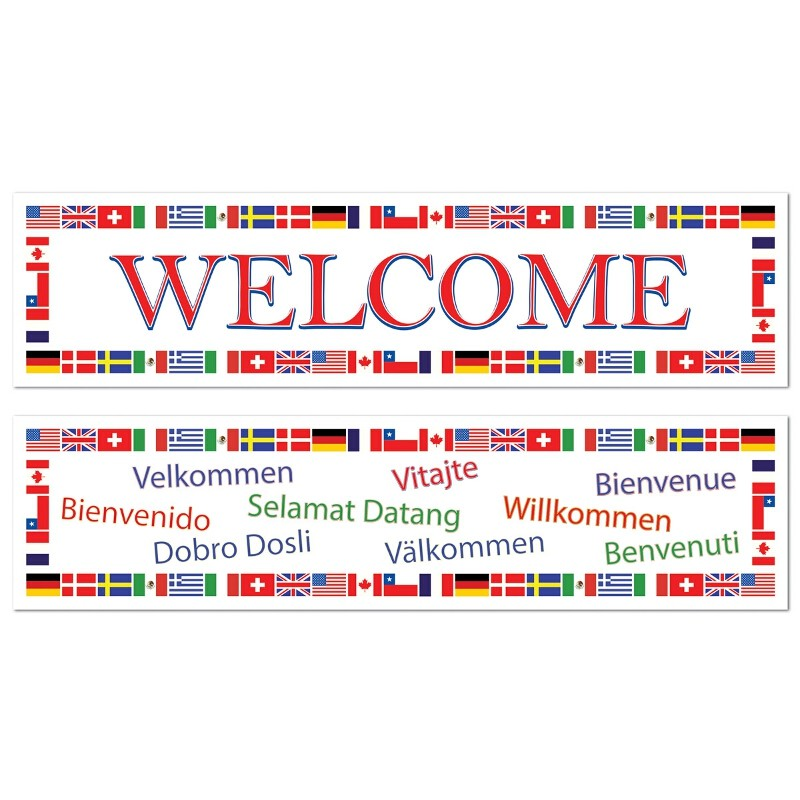 International Welcome Banners- 2ct