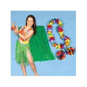 Child Hula Kit with Light Up Lei