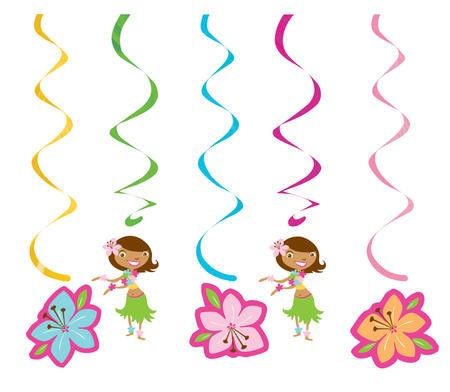 Pink Luau Fun Dizzy Danglers Multi-Pack