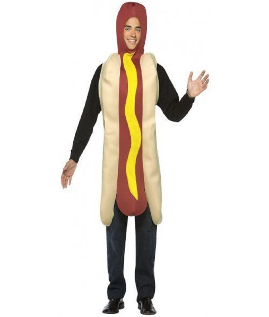 Rasta Imposta Lightweight Hot Dog Costume Multi-Colored One Size