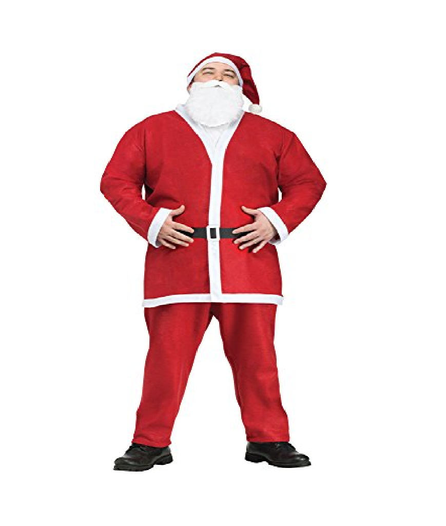Fun World Costumes Men's Plus-Size Plus Size Adult Pub Crawl Santa Suit RedWhite X-Large