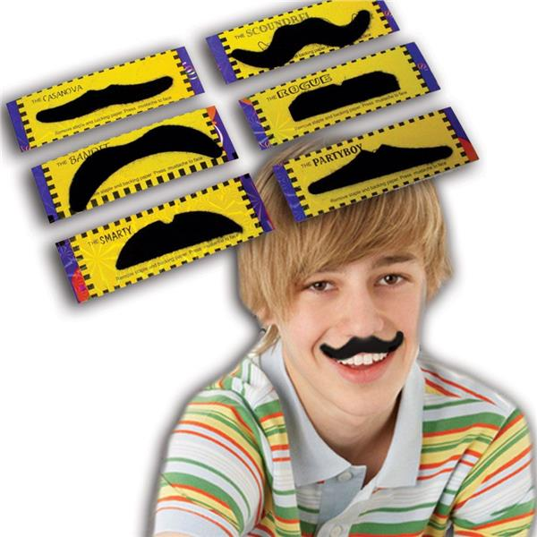 2.5 INCH - 3.25 INCH MOUSTACHES-ASST.