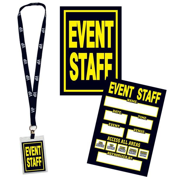 EVENT STAFF PASS W LANYARD