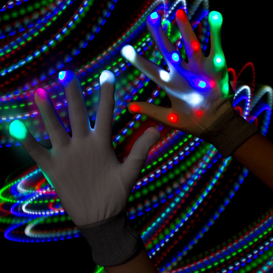 MULTI-LED RNBOW GLOVES-1PAIR