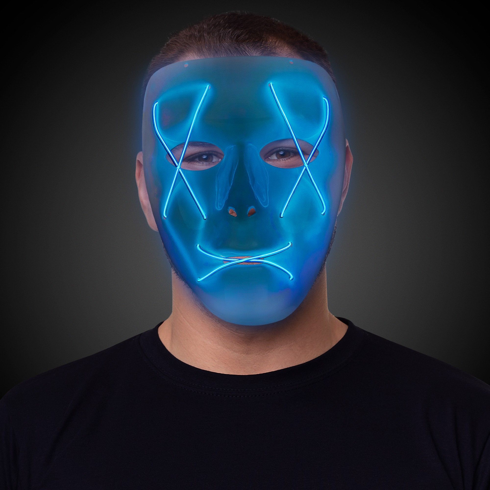 EL WIRE MASK - BLUE EL WIRE