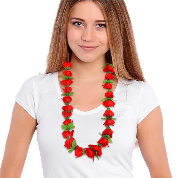 36 INCH RED ROSE LEI