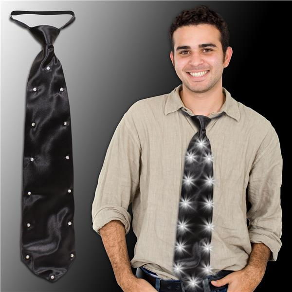 BLACK LED LIGHT-UP NECKTIE