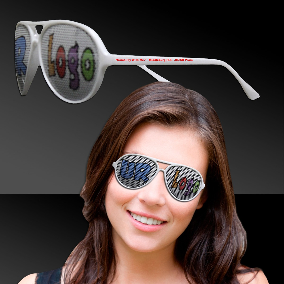 BILLBOARD-AVIATOR-WHITE FRAME