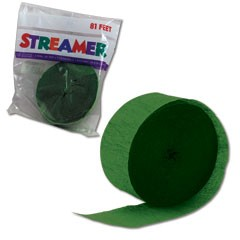 GREEN CREPE STREAMER