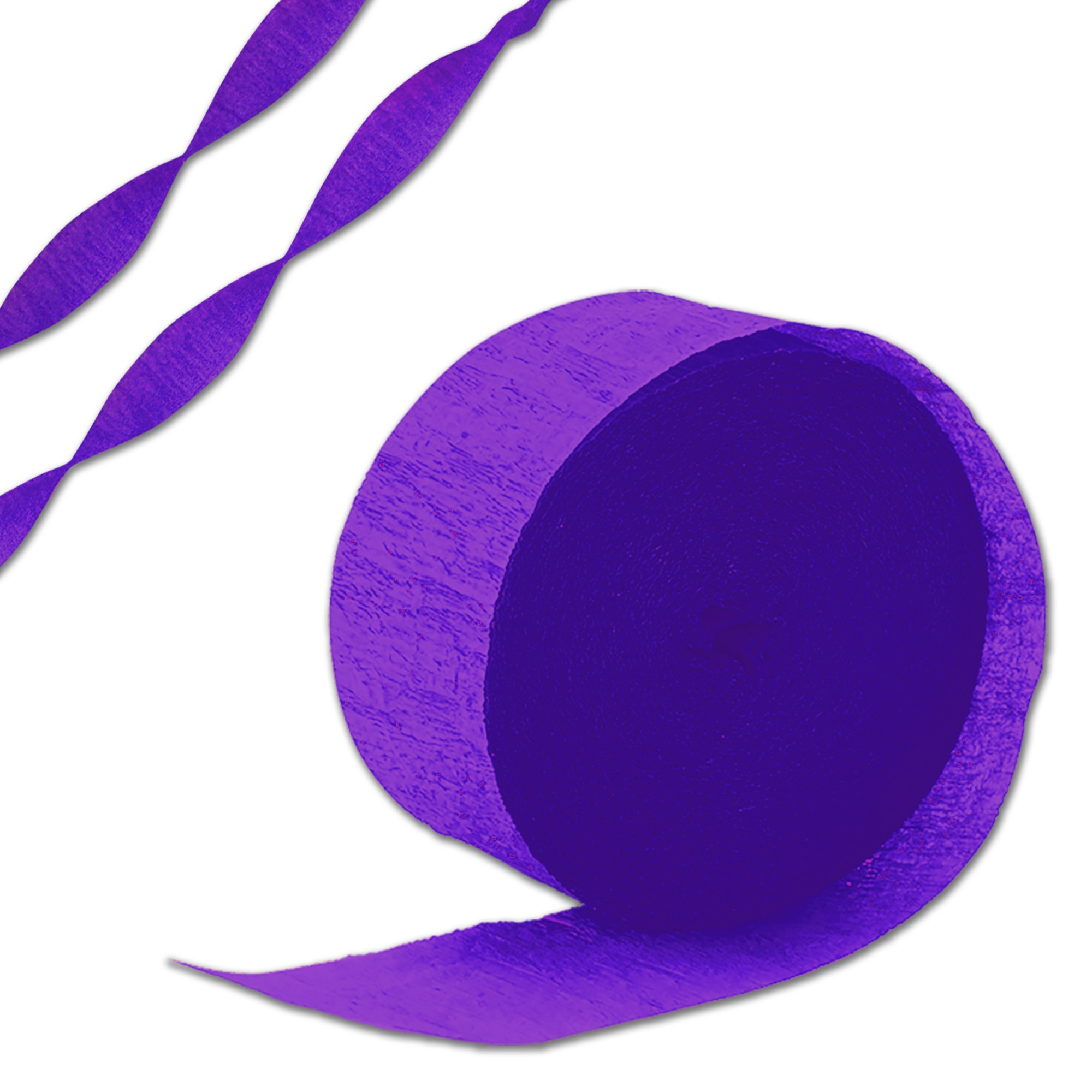 PURPLE CREPE STREAMER
