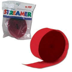RED CREPE STREAMER