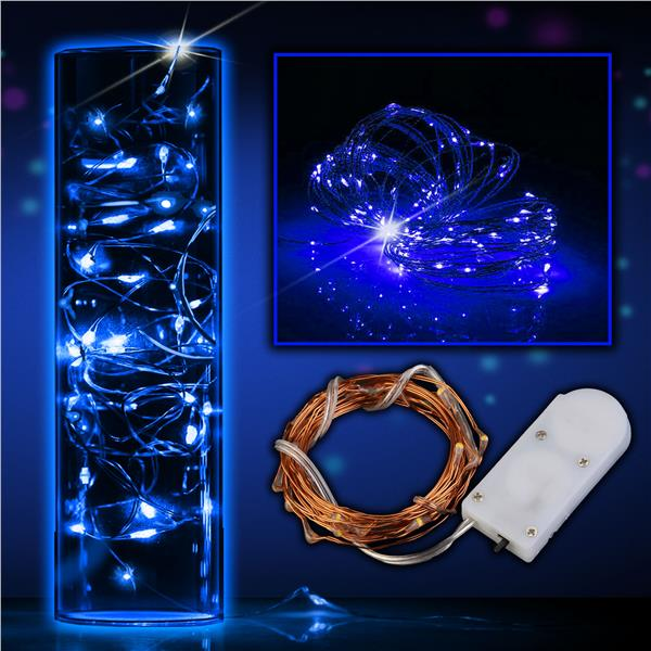 6CT- COPPER WIRE-20 BLUE LED