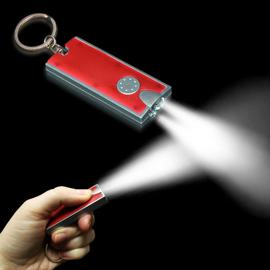 REDSILVER RECTANGLE KEYCHAIN