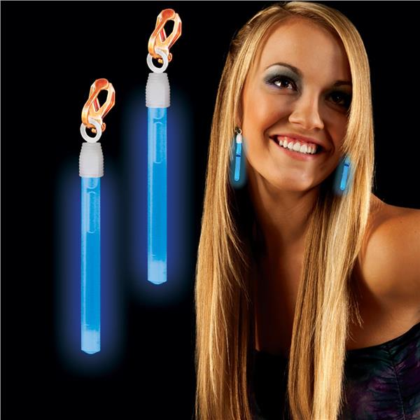 CLIP ON GLOW EARRINGS - BLUE