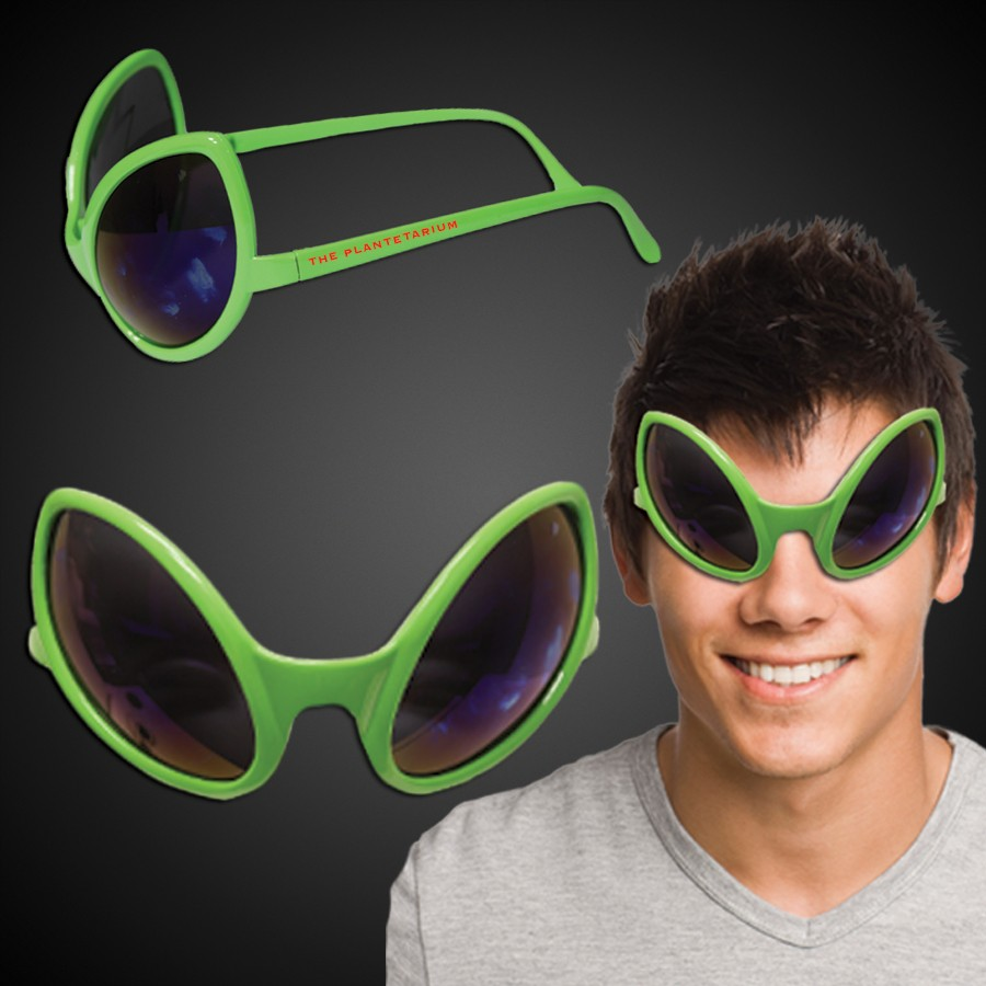 NEON GREEN ALIEN SUNGLASSES