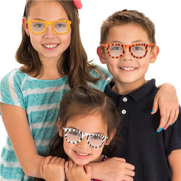 KIDDIE ANIMAL PRINT GLASSES