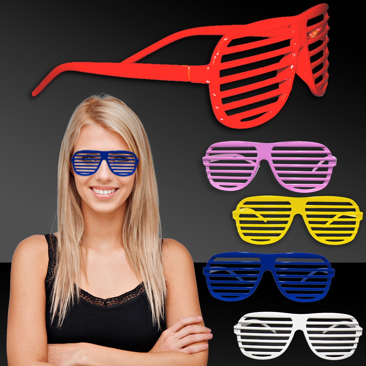 SLOTTED GLASSES- ASST. COLORS