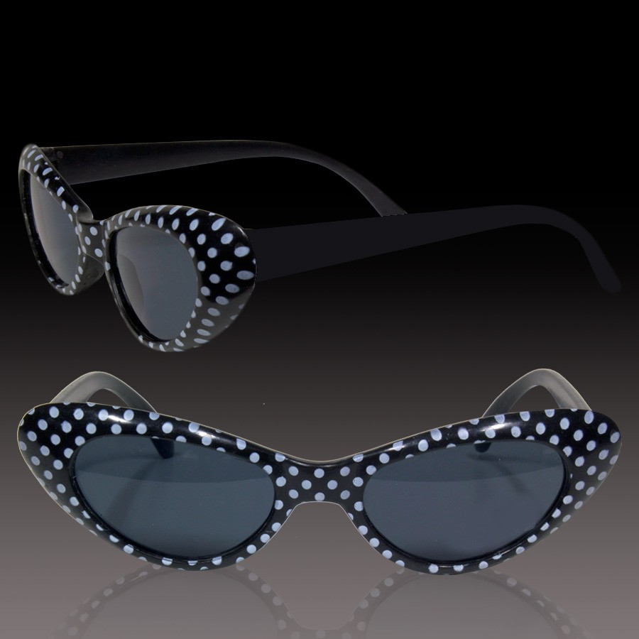 BLACK POLKA DOT KIDS' SUNGLASSES