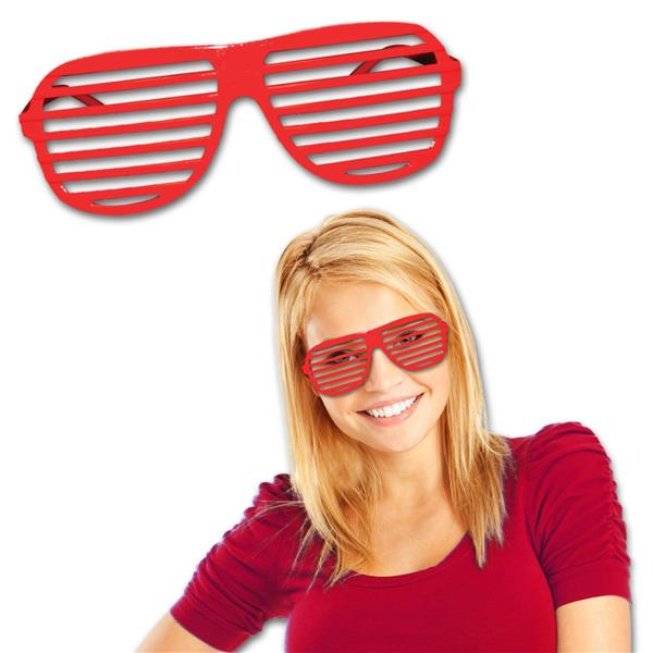 RED SLOTTED GLASSES