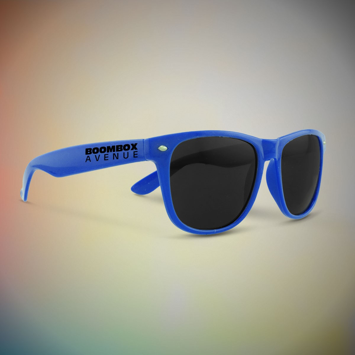 BLUE FRAME RETRO SUNGLASSES