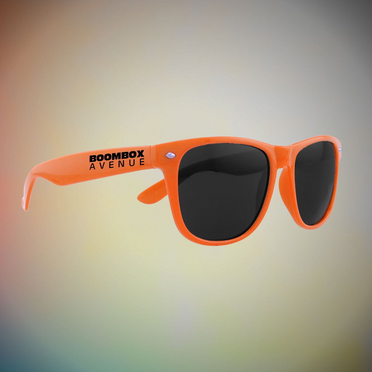 ORANGE FRAME RETRO SUNGLASSES