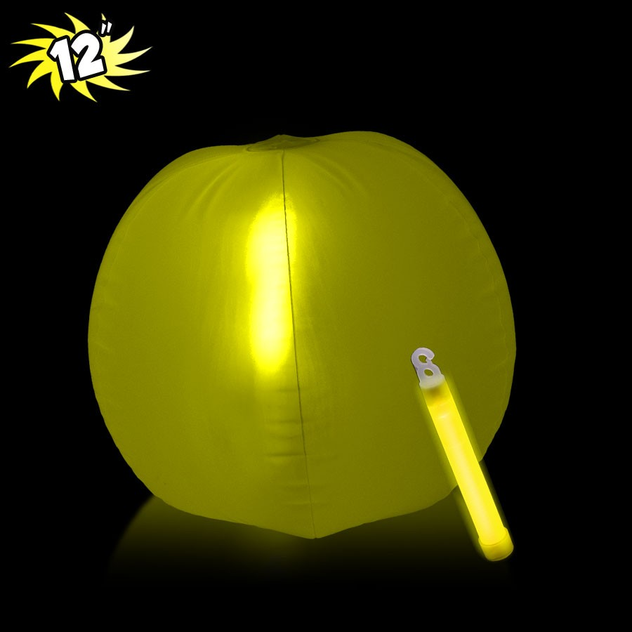 12 INCH GLOW BEACHBALL W1 YELLOW