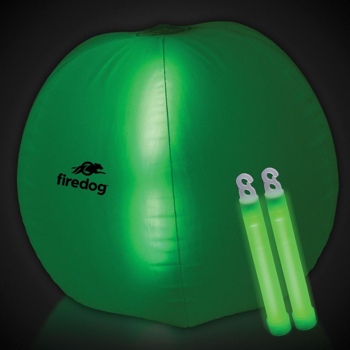24 INCH GLOW BEACHBALL W2 GREEN