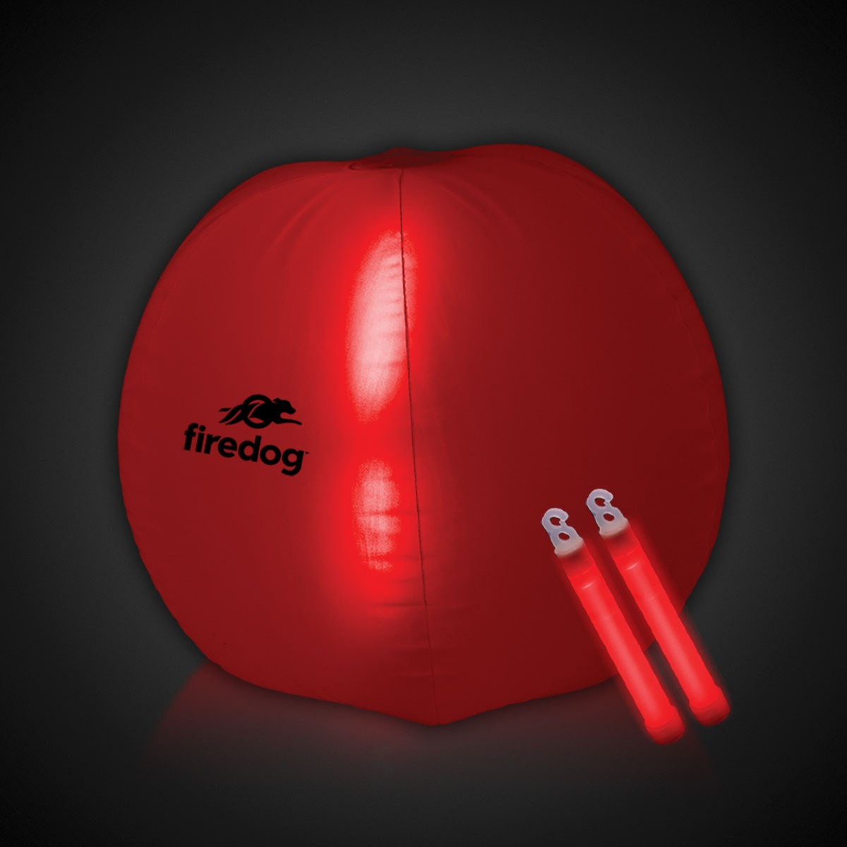 24 INCH GLOW BEACHBALL W2 RED