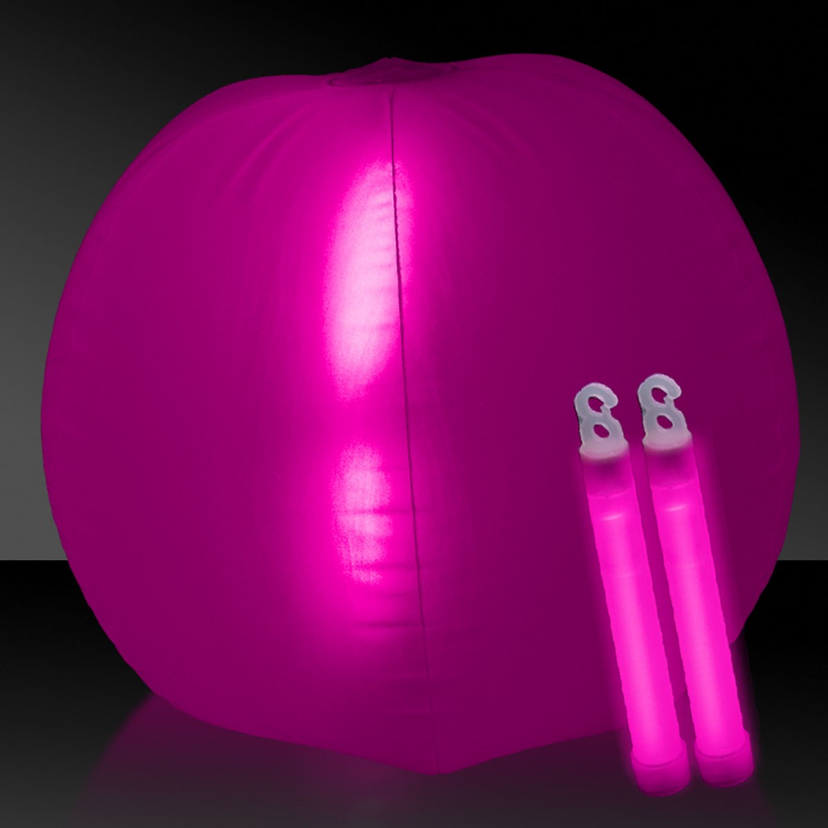 24 INCH GLOW BEACHBALL W2 PINK
