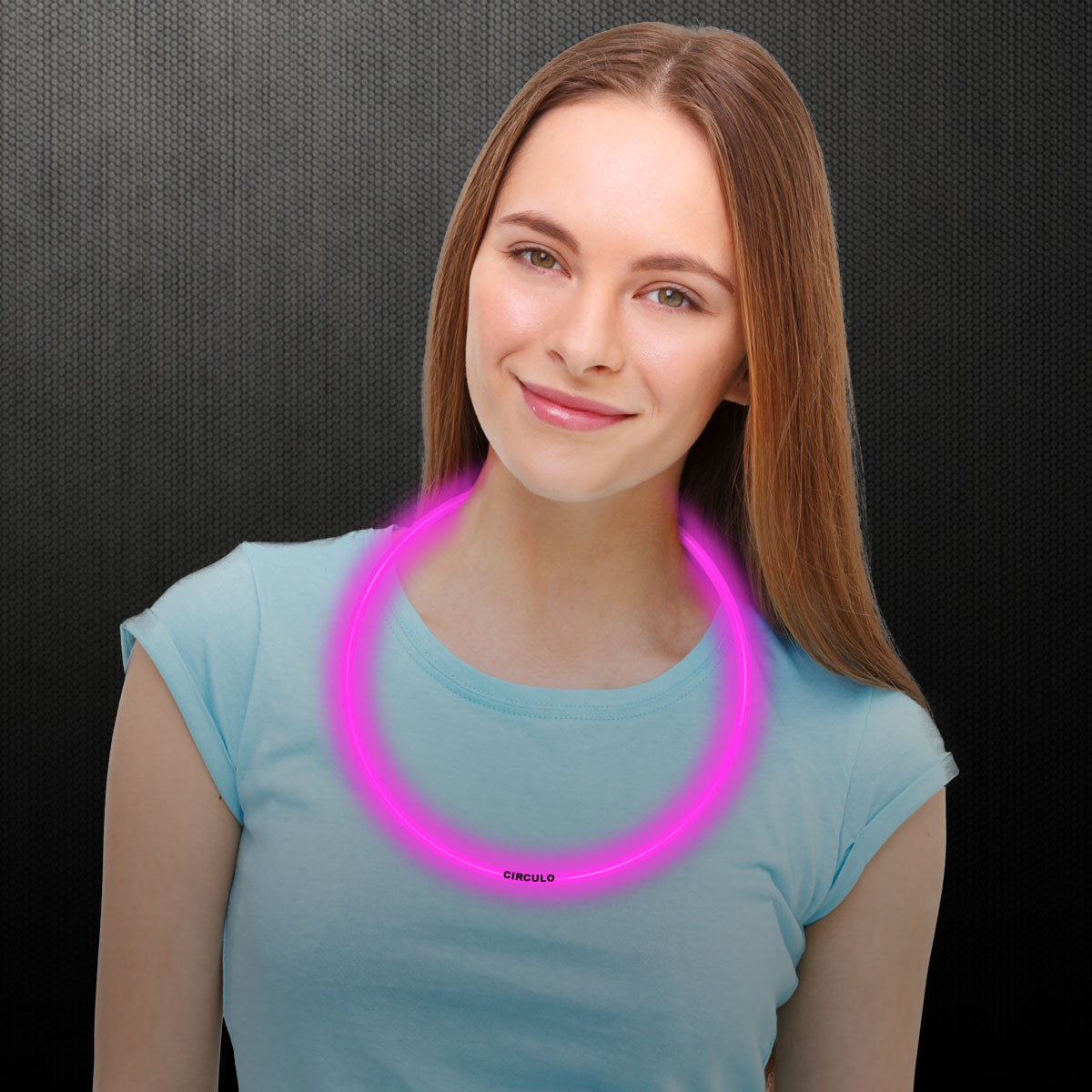 22 INCH PINK GLOW NECKLACE