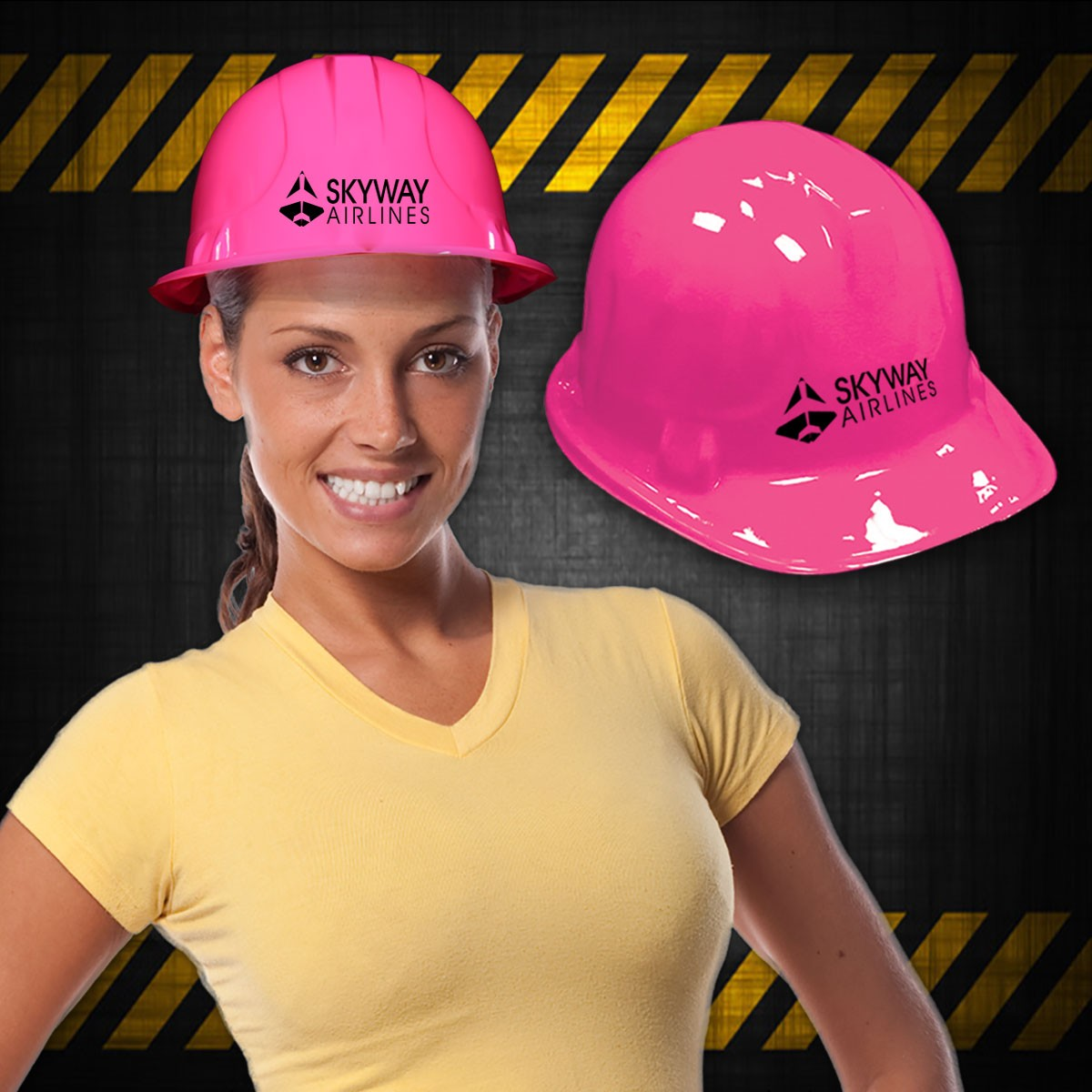 PINK CONSTRUCTION HAT -PLASTIC