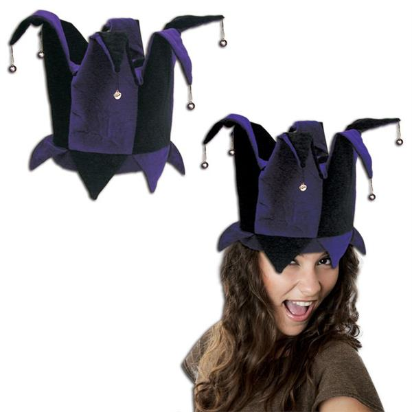 PURPLEBLACK JESTER BUCKET HAT