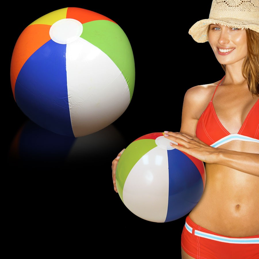 16 INCH RAINBOW BEACHBALL INFLATE