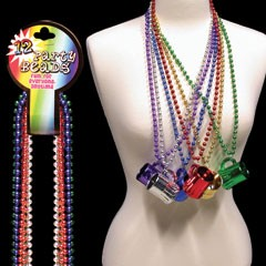 33 INCH BEER MUG BEAD NECKLACES