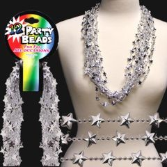33 INCH SILVER STAR BEAD NECKLACES