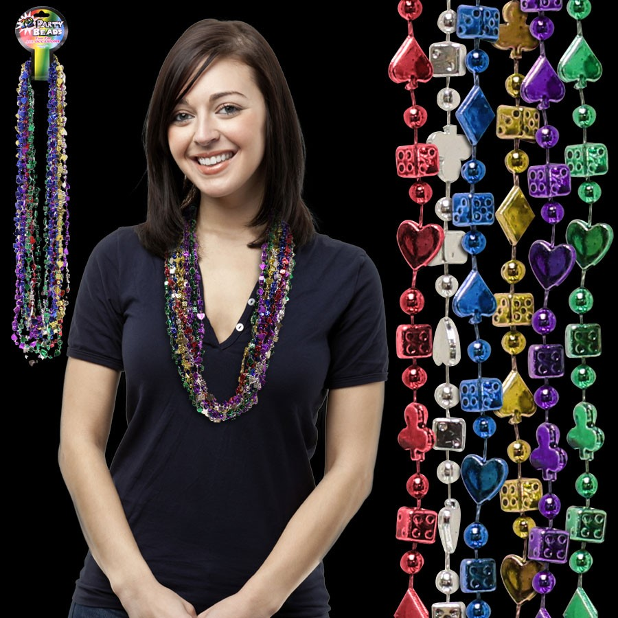 33 INCH CASINO BEAD NECKLACE