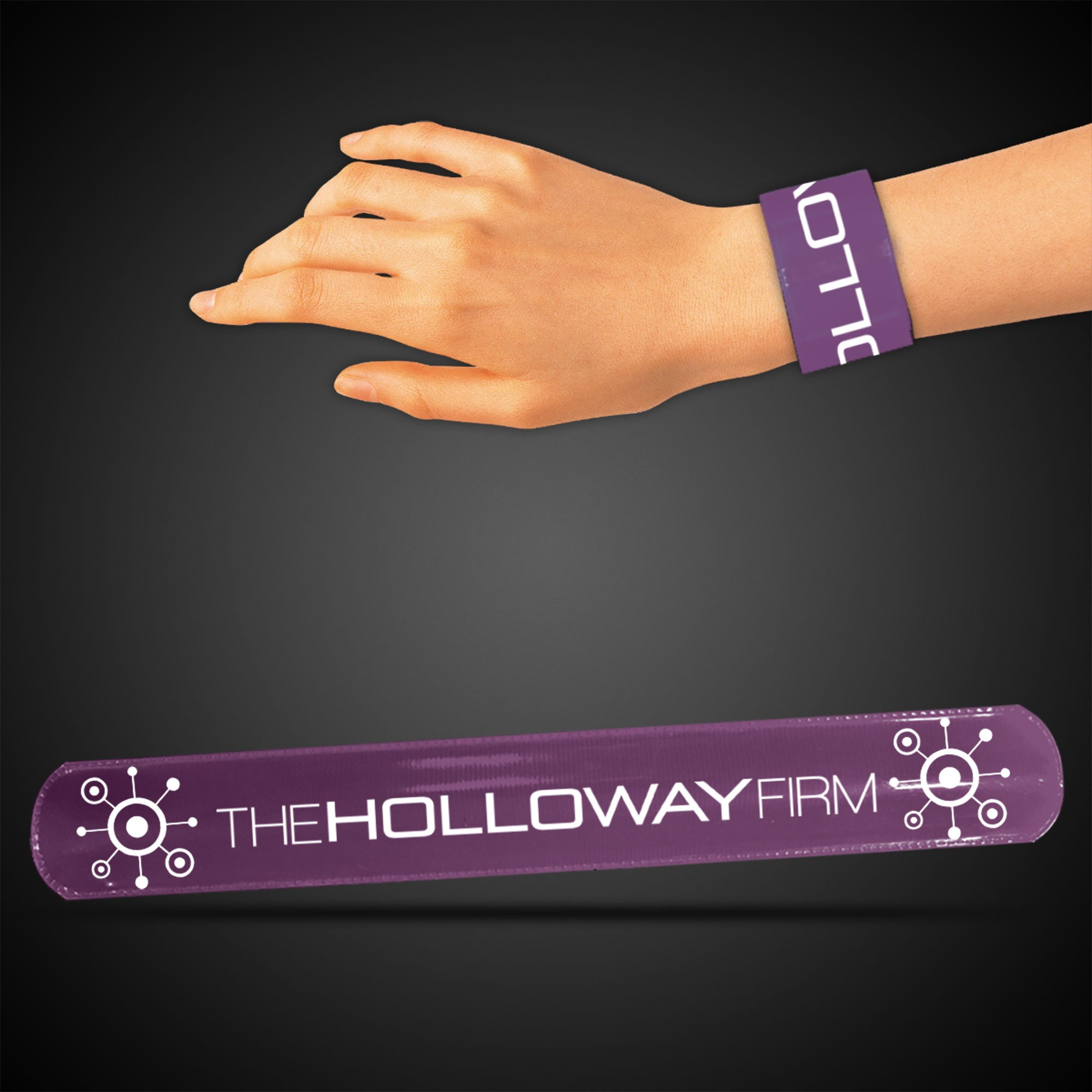 PURPLE SLAP BRACELET