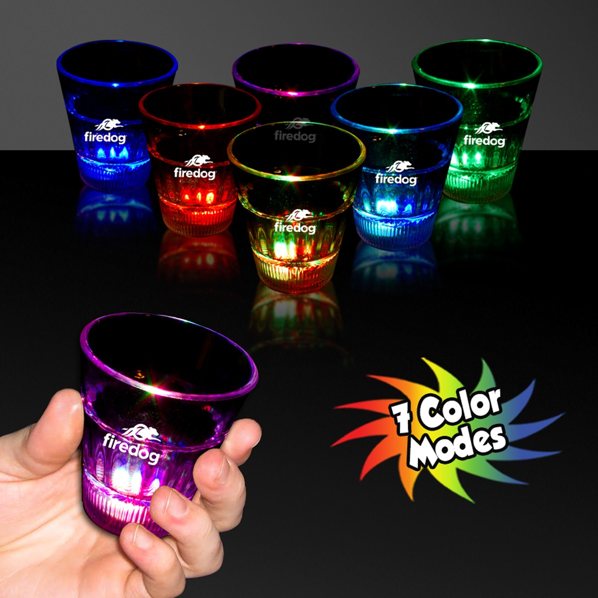 LITE-UP RAINBOW SHOT GLASS