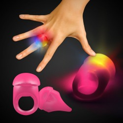 PINK JELLY BUTTON RING WLEDS
