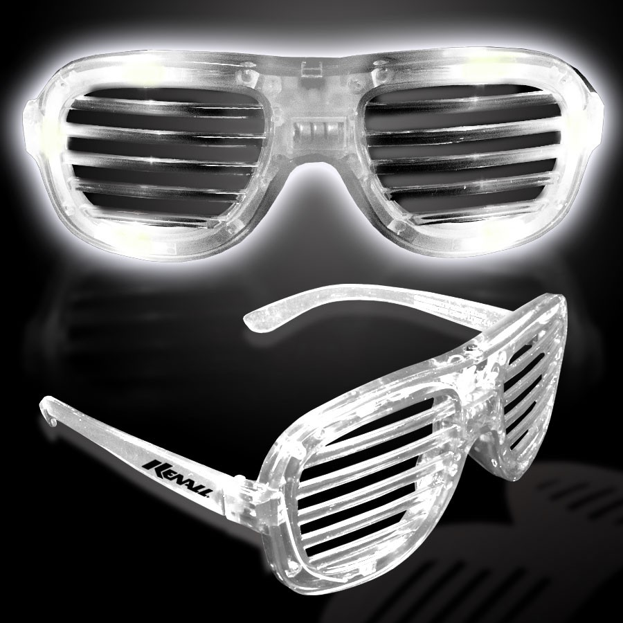 WHITE L.E.D. SLOTTED GLASSES