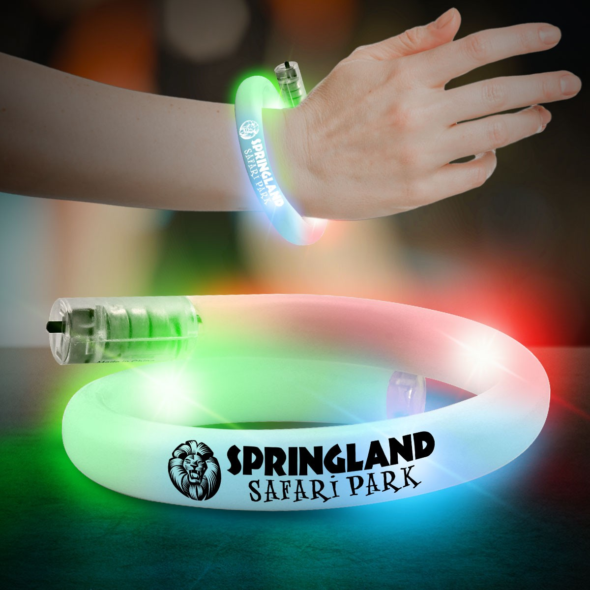 24.5CM WHITE TUBE LED BRACELET