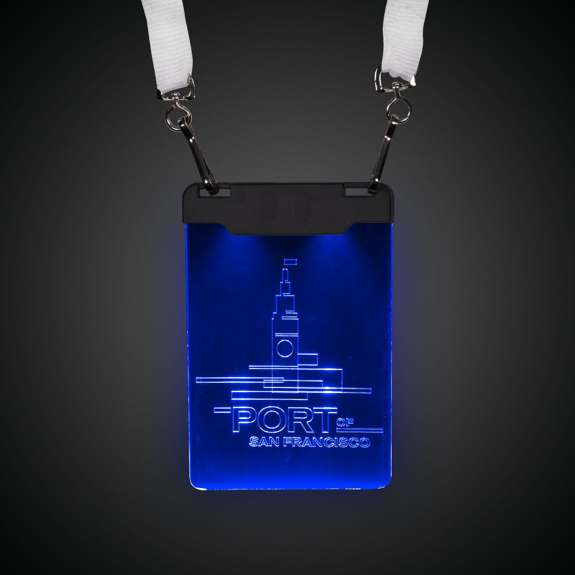 BLUE LED BADGE WLANYARD