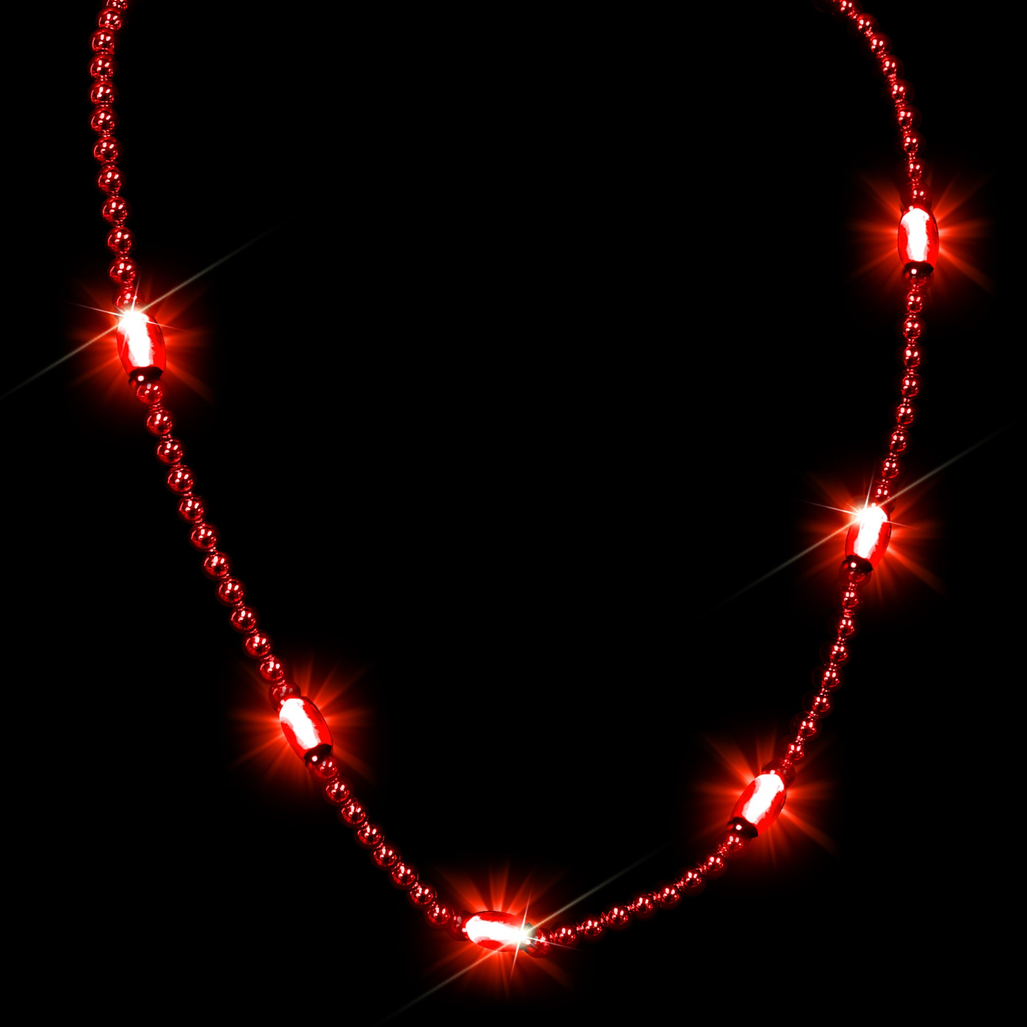 RED BEAD NECKLACE W 6 RED