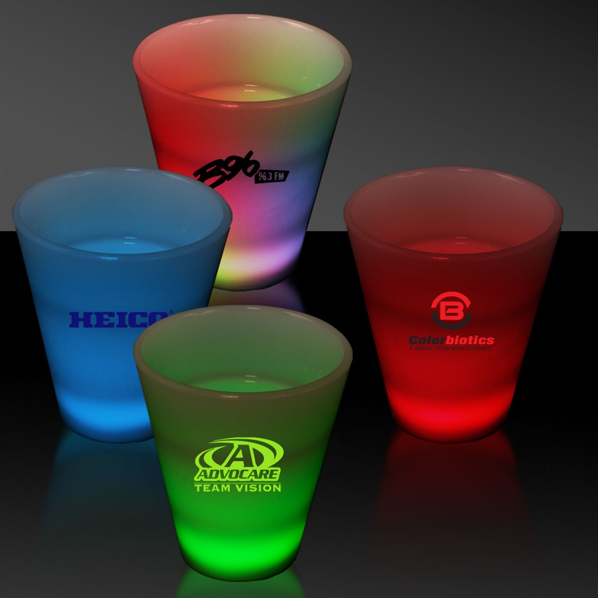 MULTI 2OZ.NEON LOOK SHOT GLASS