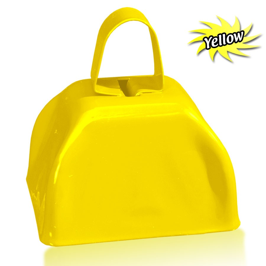 3 INCHES YELLOW METAL COWBELL