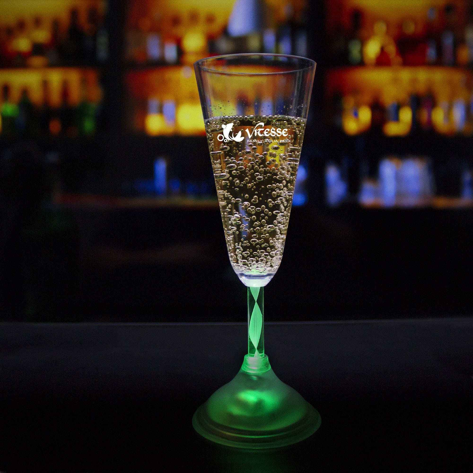 CHAMPAGNE GLASS - 7 COLOR LED