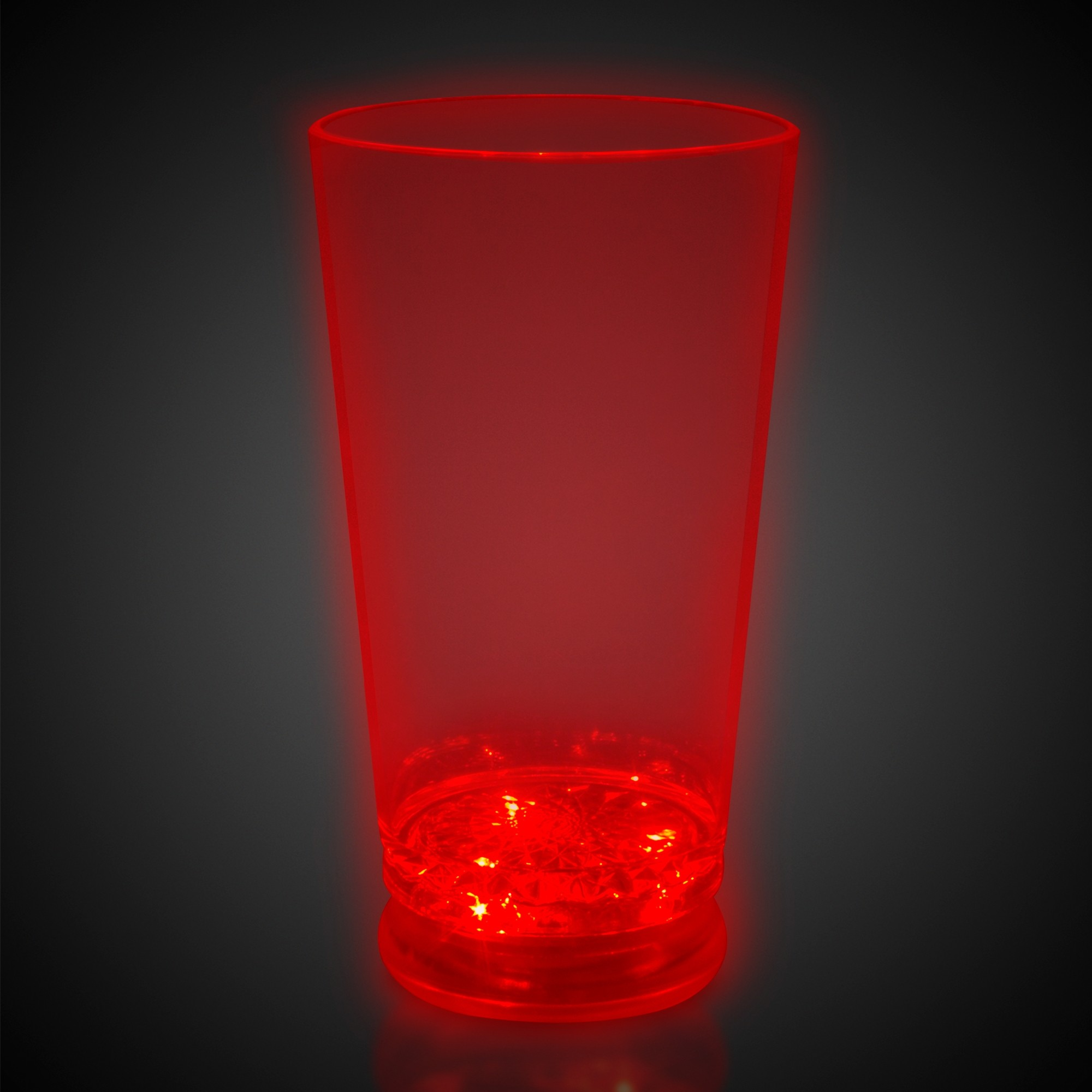 LIGHT-UP PINT GLASS WRED BASE